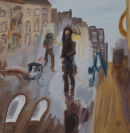 Painting in the 4th Dimension - Baker Street   Oil