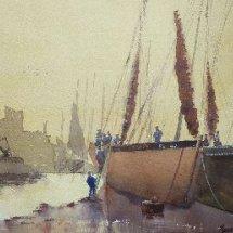 Harbour Scene Peel, Isle of Man, 1890s