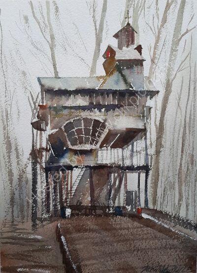 Mystery tree house