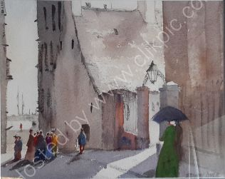 Street Scene Douglas, Isle of Man, 1890s