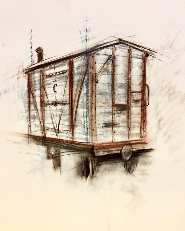 Old Wagon At Hollycombe