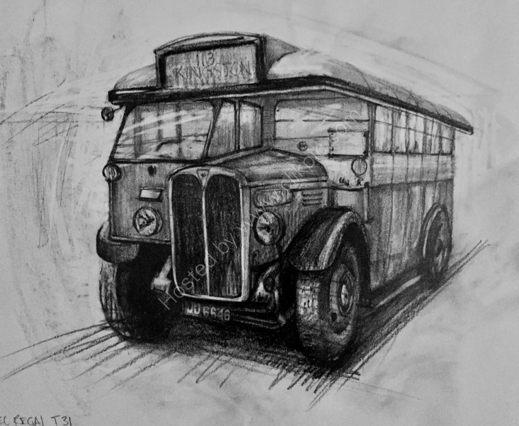 Classic Bus At Brooklands