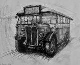 Classic Bus At Brooklands