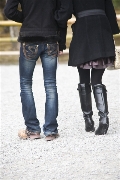 Bandy legs.