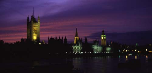 Houses of Parliment at dusk.
