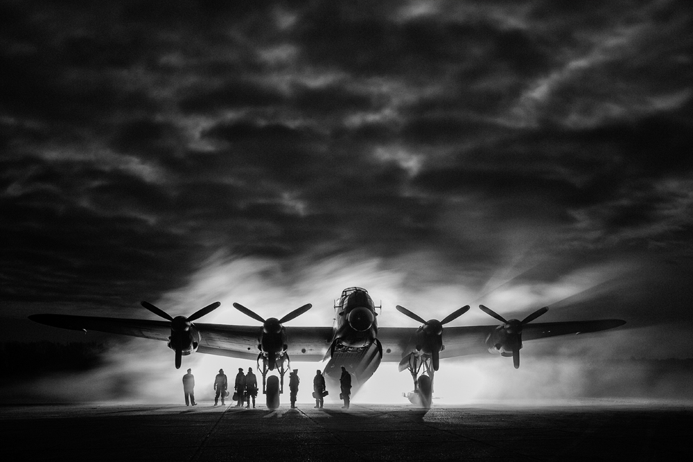 Lancaster and crew