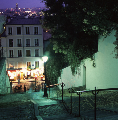 Montmartre at night.
