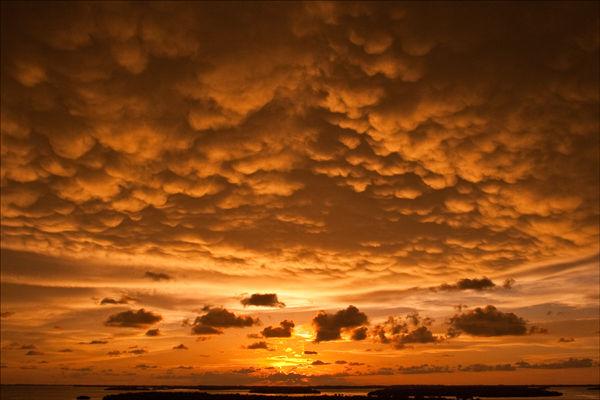 Mammatus Clouds.
