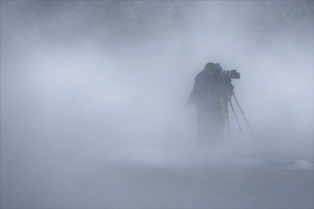 Photographers in the mist