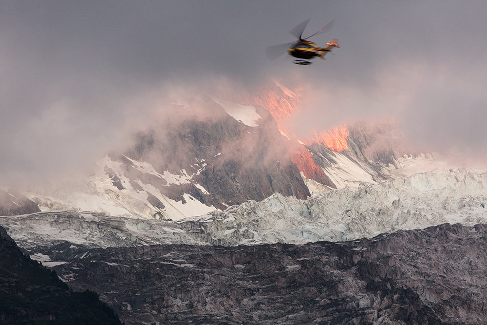 Rescue Helicopter Mont Blanc