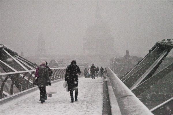 Snowbound London.