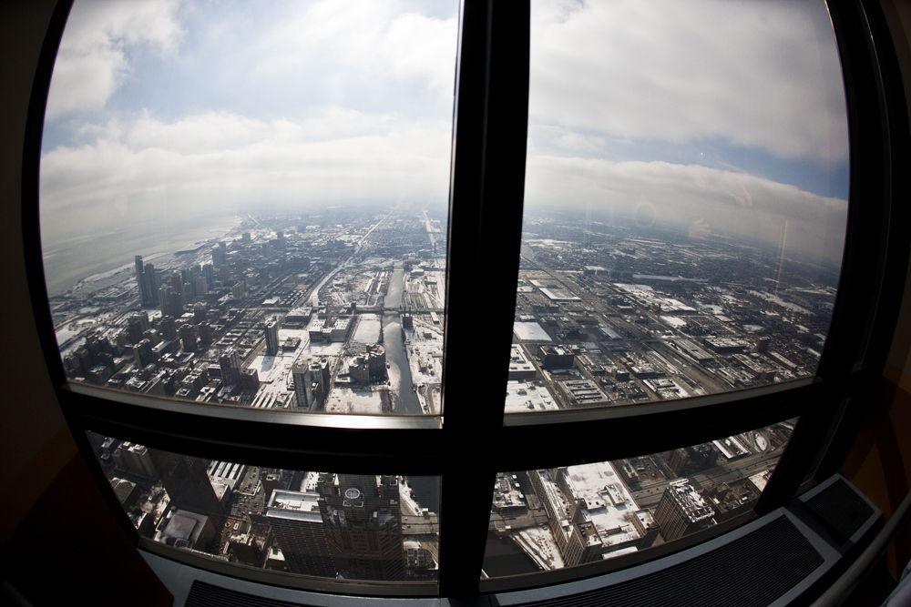 Window over Chicago