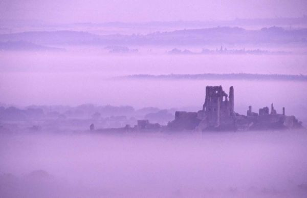 Corfe Castle Dawn