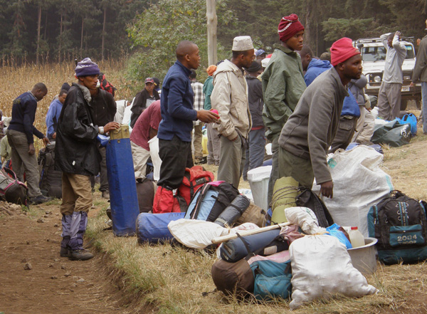 Porters hoping for a job