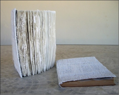 Detail of Palimpsest installation (2013)