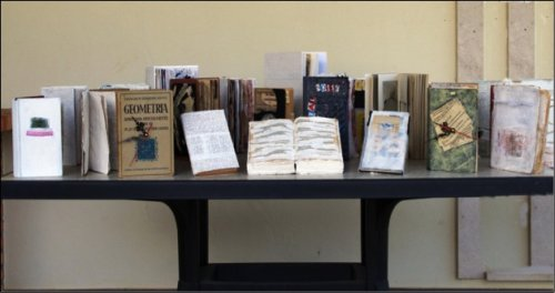 Palimpsest Installation - altered books (2013)
