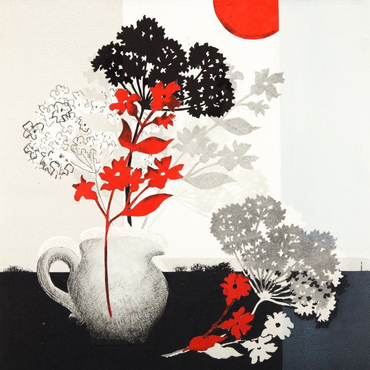 Still Life with Red Sun