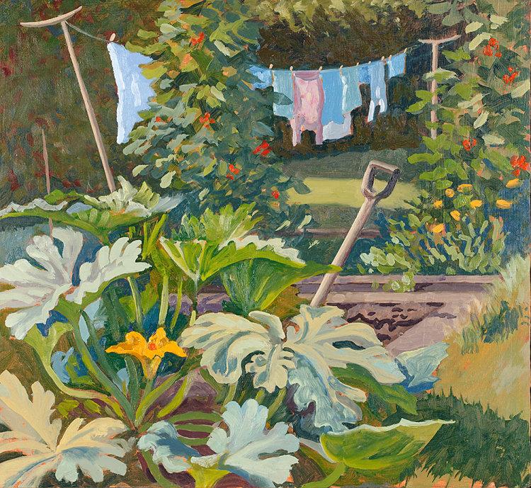 Washing in the Kitchen Garden