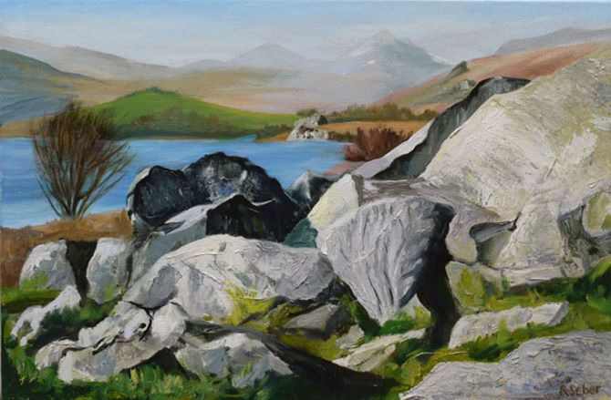 Rocks by Llynnau Mymbyr