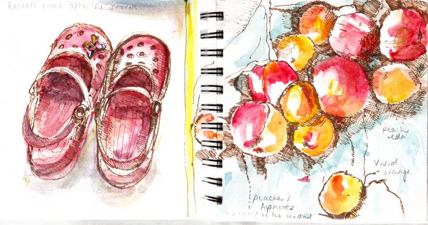 Crocs and apricots