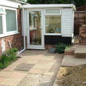 Original conservatory and garden