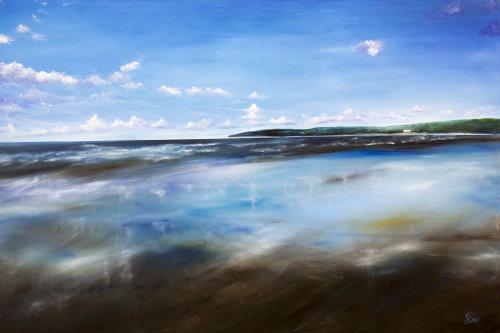 Vast Mirror Shore - kite surfers