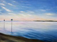 Oily Thames Estuary Dusk