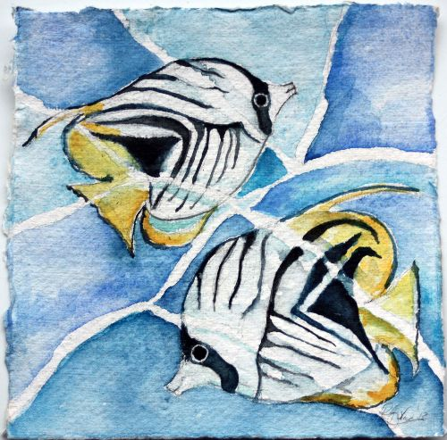 Threadfin Burtterfly fish