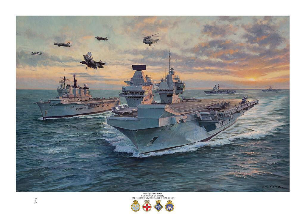 HMS Prince of Wales, HMS Illustrious, HMS Eagle, HMS Ocean, Buccaneer, Harrier