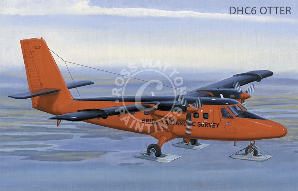 DHC6 Otter over the Falkland Islands.