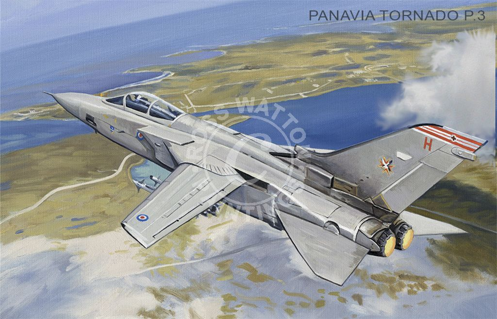 Panavia Tornado P.3 flying over the Falkland Islands.
