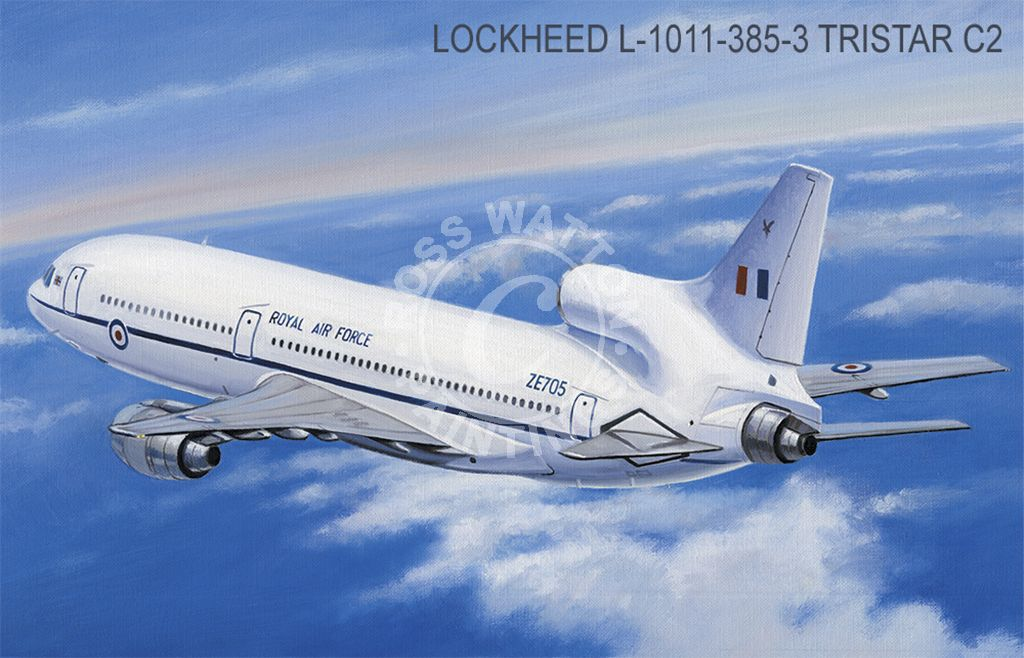 Lockheed L-1011-385-3 Tristar C2 above the clouds.
