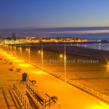Sunrise over Bridlington South Bay and Harbour