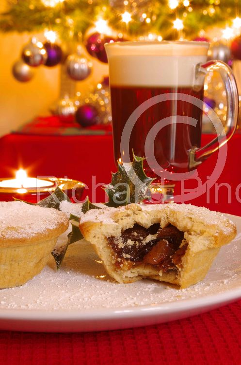 Irish Coffee and Mincepie Merry Christmas