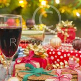 Red Wine and Cookies Merry Christmas