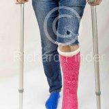 Lady using Crutches