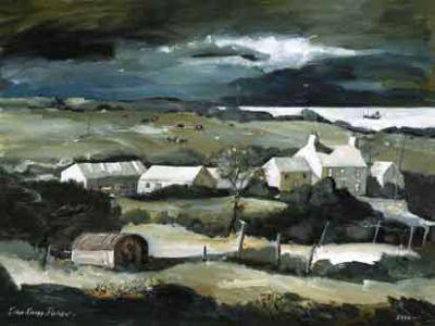 Tregynnon Farm by John Knapp-Fisher