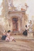 Ancient Doorway by Sir William Russell Flint