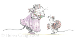Miss Lily tells Angelina that she is a good little dancer by Helen Craig