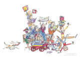 The Book Cart by Quentin Blake