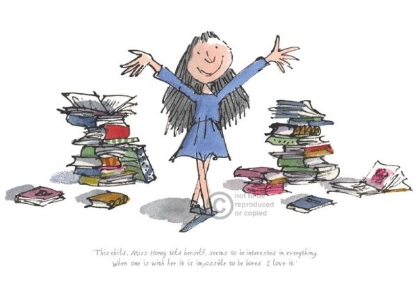 This child seems to be interested in everything by Quentin Blake