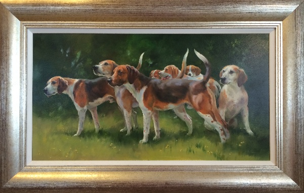 An original painting by Jacqueline Stanhope