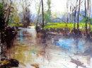 "River Bovey. Dartmoor. 8""x6""  Oil.  Sold."