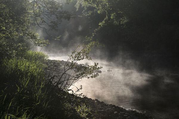 River Torridge mist