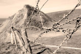 barbed wire fence. North Cornwall / Devon Border.