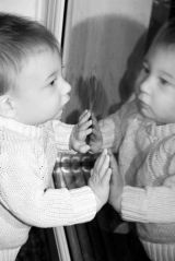 Toddler reflection.