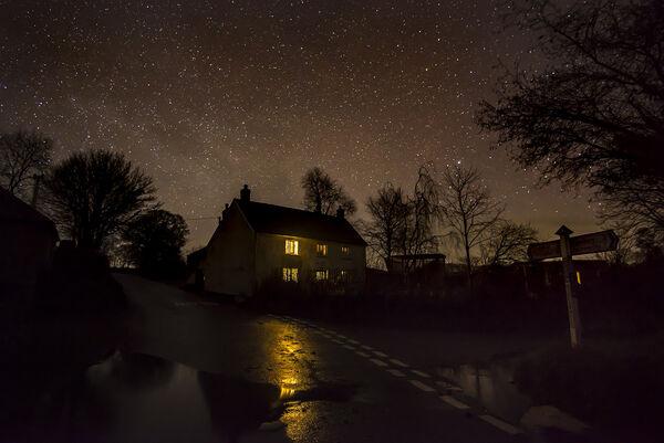 Wintery house