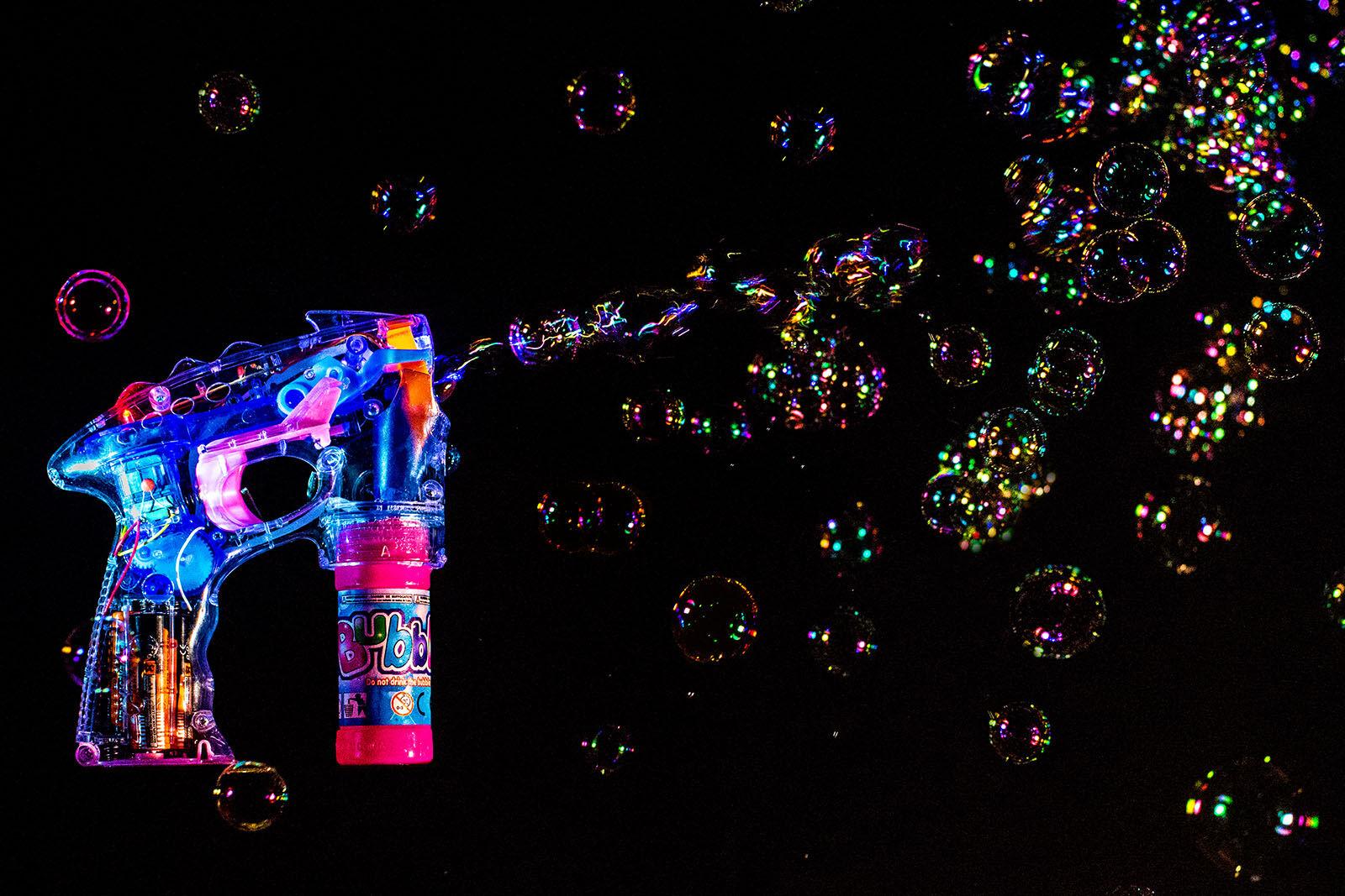 Bubble machine party poster.