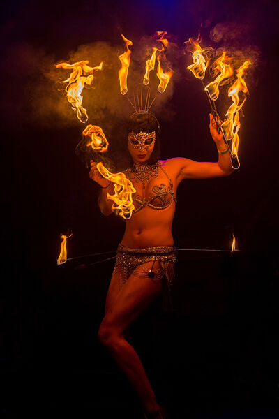 Fire dancer shoot.