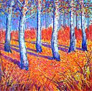 Autumnal Celebration - Oil Pastel (Sold)
